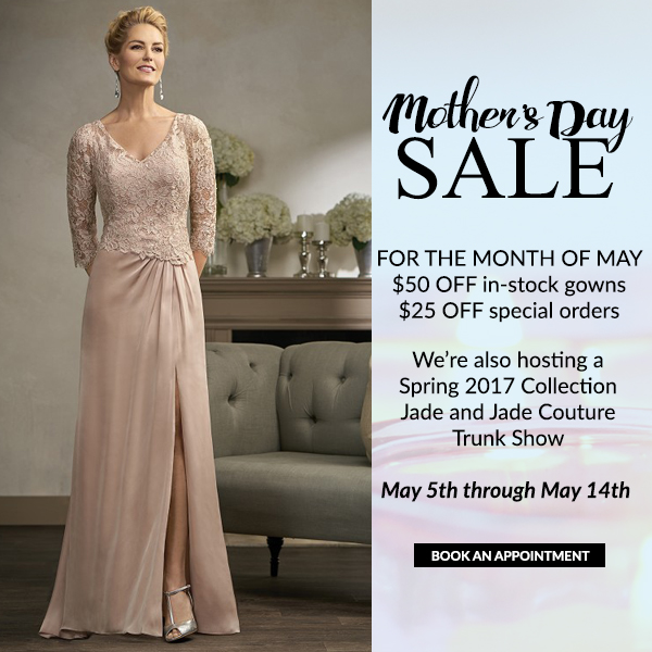 specials, jade, jade couture, mother of the bride, sale